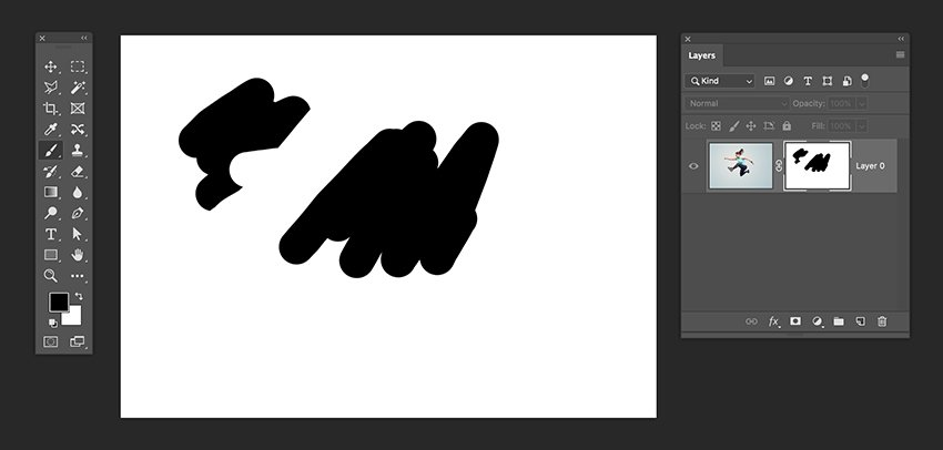 press option and click on the layer mask thumbnail to open it
