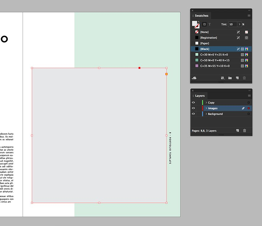 create an even square to place images
