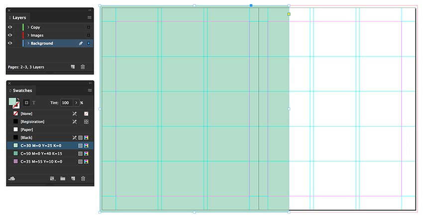 add a rectangle to the contents spread