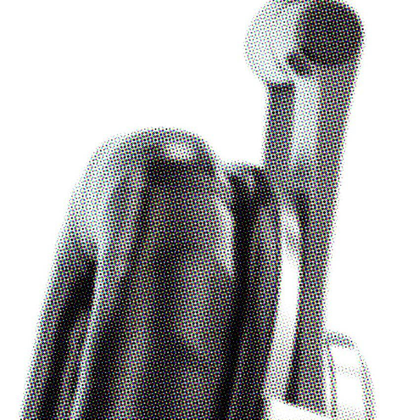 headphones image with the default settings halftone