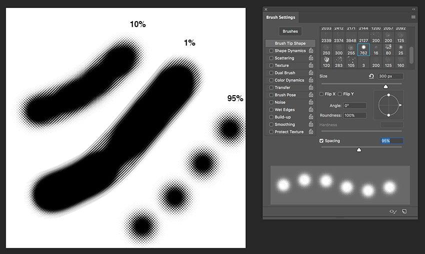 open the brush settings to modify brush options