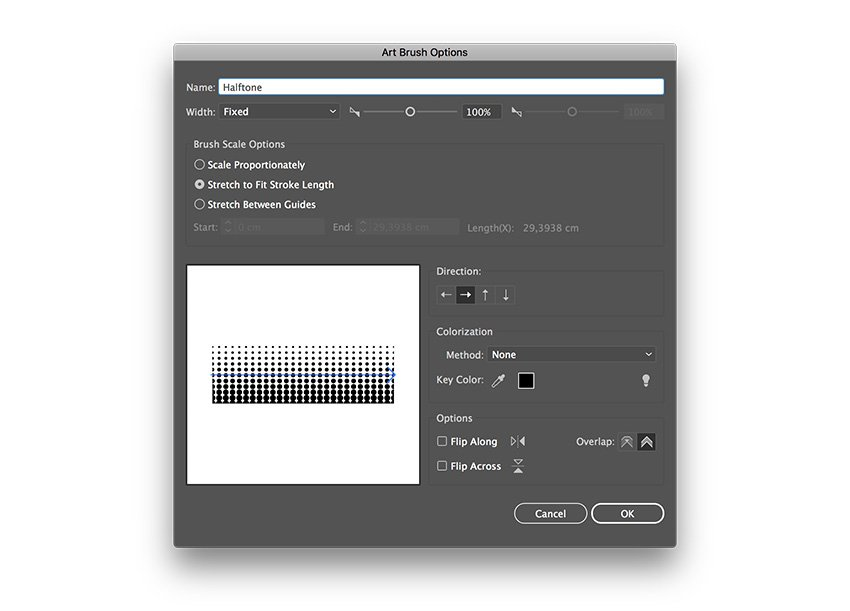create a brush with the tile