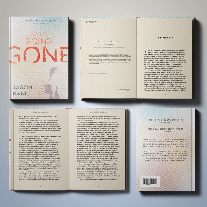 How to make a book layout template and how to create a book cover