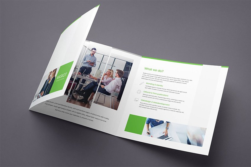Maskot business and corporate brochure trifold