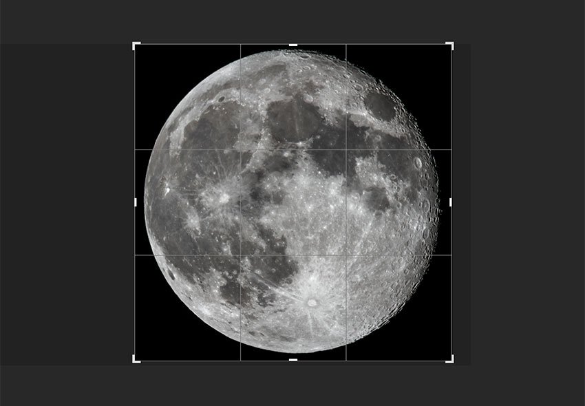 open the moon file and crop the image