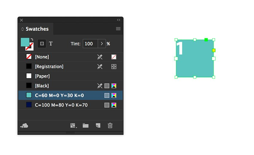 create a small text frame and add a number