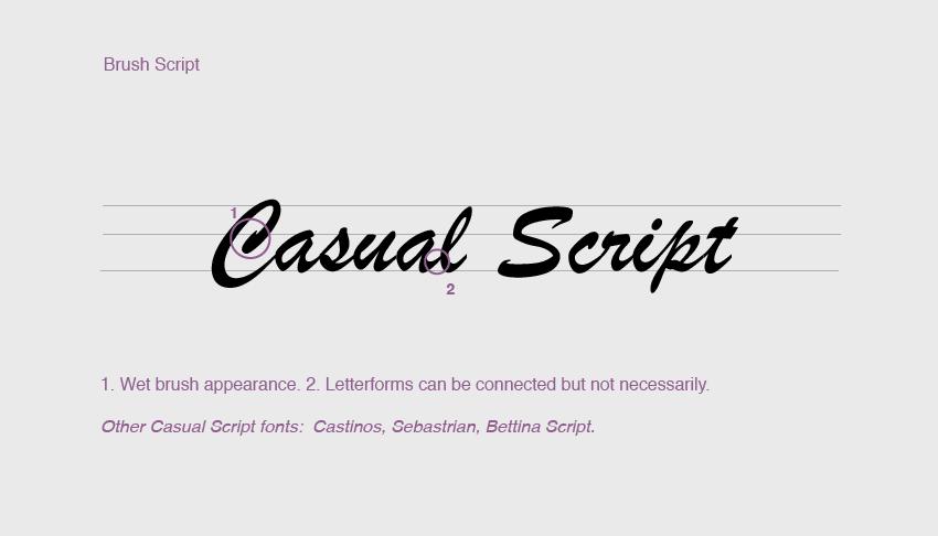 Casual script fonts