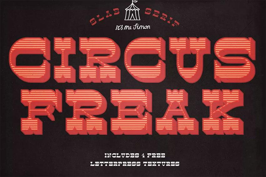 Circus Freak Font Display Board Font