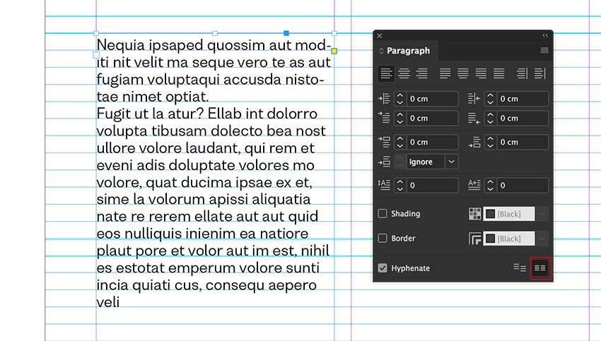 Align the text to the baseline grid