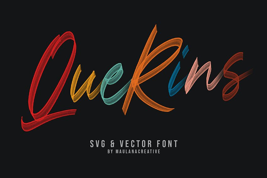 Querins SVG Brush Font