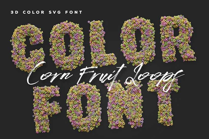Corn Fruit Loops SVG Color Font