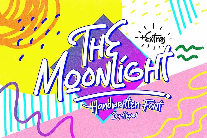 The Moonlight 90s Style Retro Font
