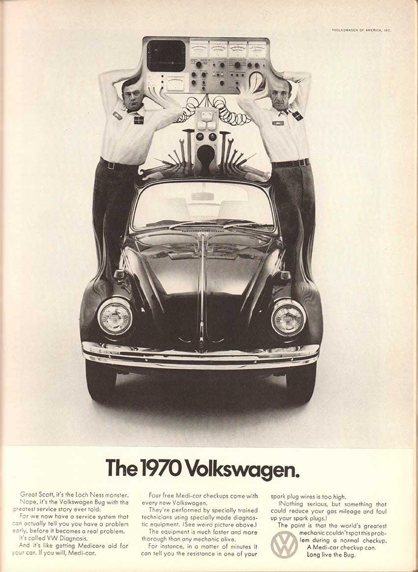 Futura Font History Volkswagen Advertising
