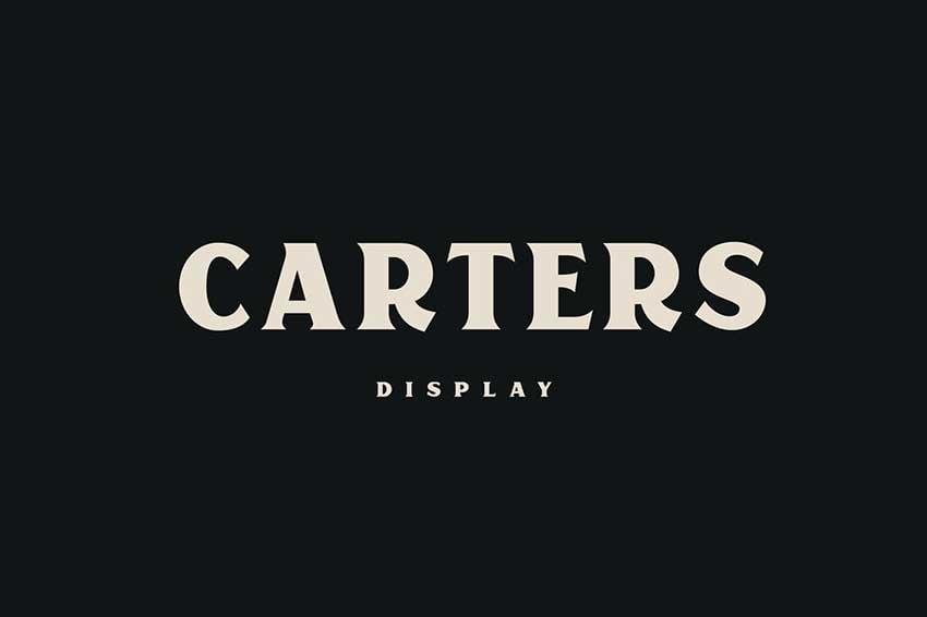 Futura font pairing Carters Display