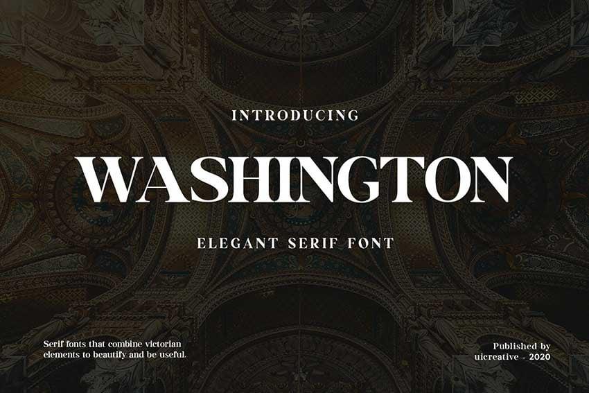 Futura font pairing Washington