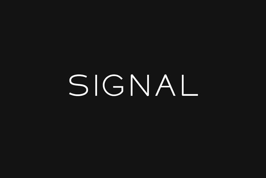 Gotham font alternative Signal