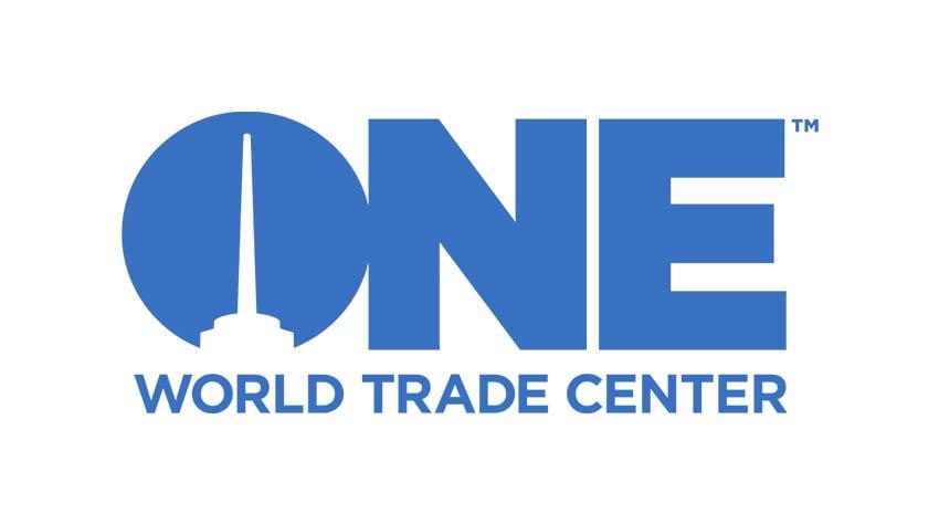 The One World Trade Center logo using the Gotham font