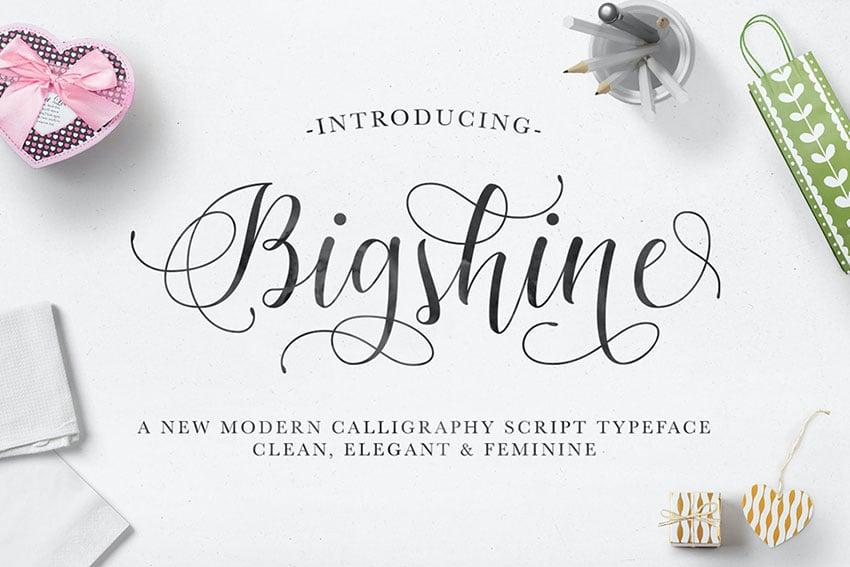 Swash Font Bigshine Script