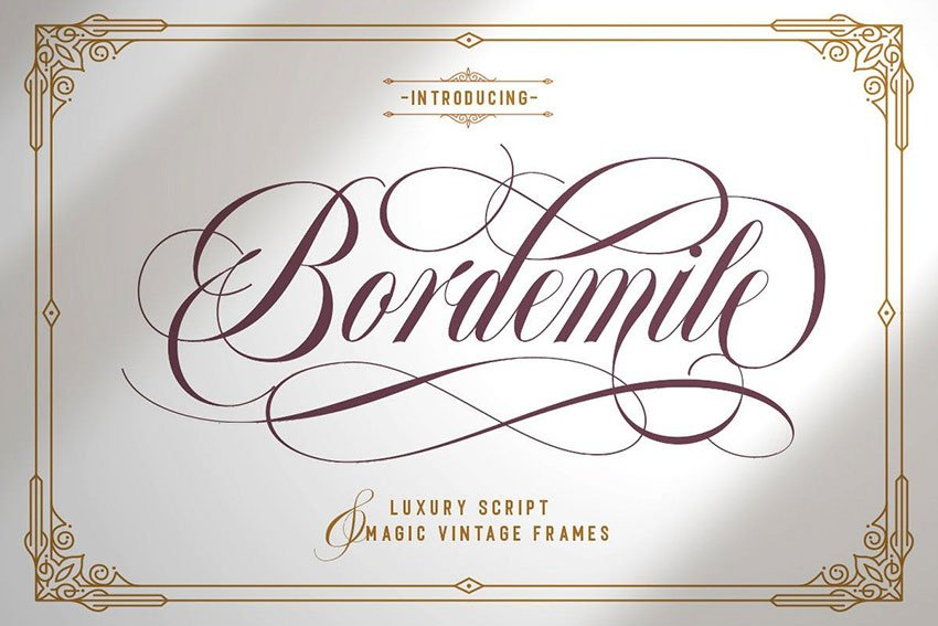 Swash Font Bordemile Luxury Script