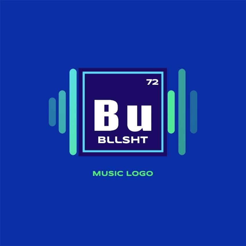 Music Logo Monogram Design