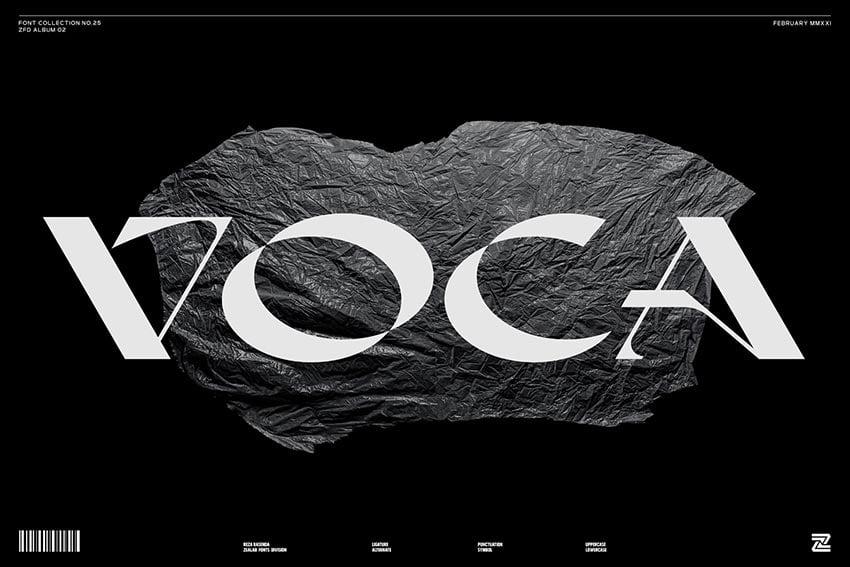 Voca, magazine letter font
