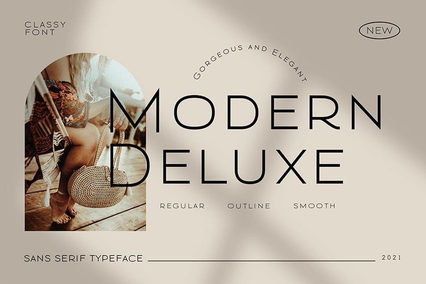 Modern Deluxe, magazine letter font