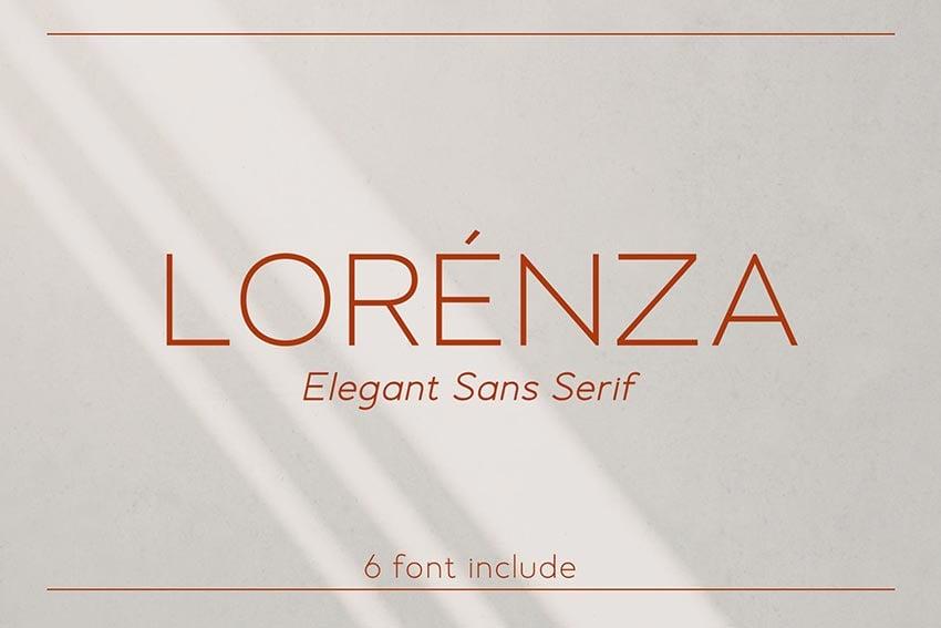 Lorenza, magazine letter font