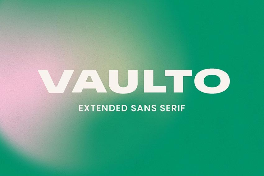 Vaulto, magazine letter font