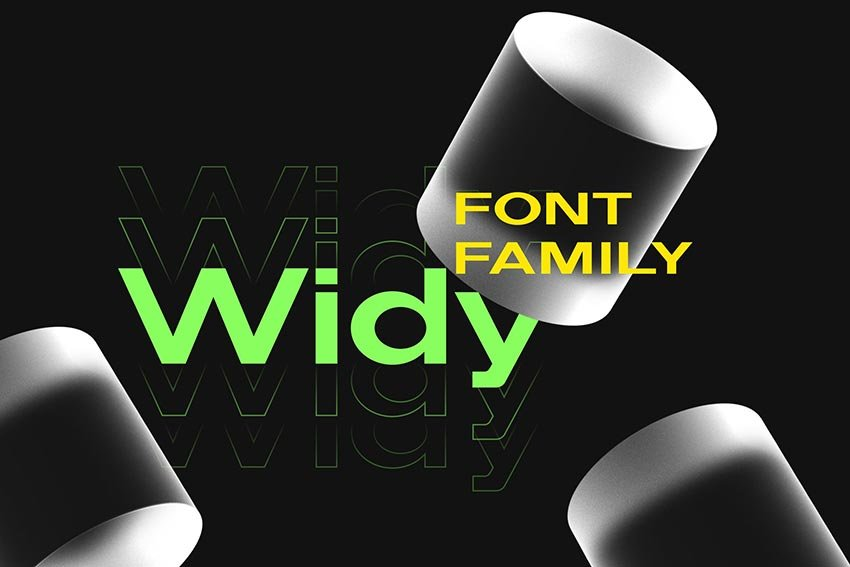 Widy, magazine letter font