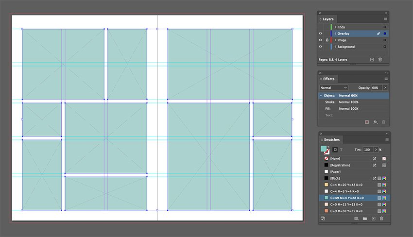 Add an effect over the image frames
