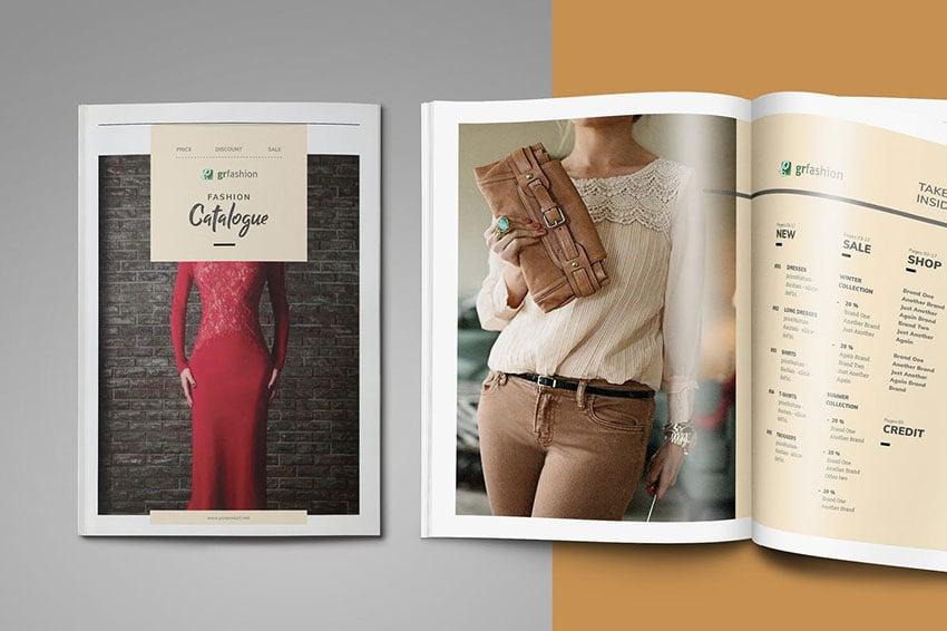 Catalogue/lookbook template