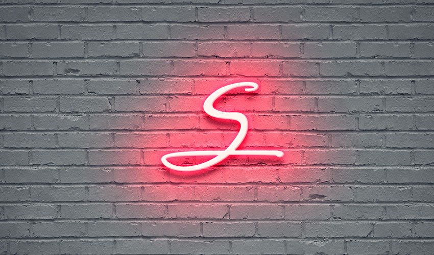 S in Different Styles, Neon Effect
