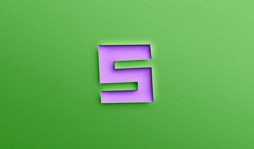 S in Different Styles, Papercut Text Effect