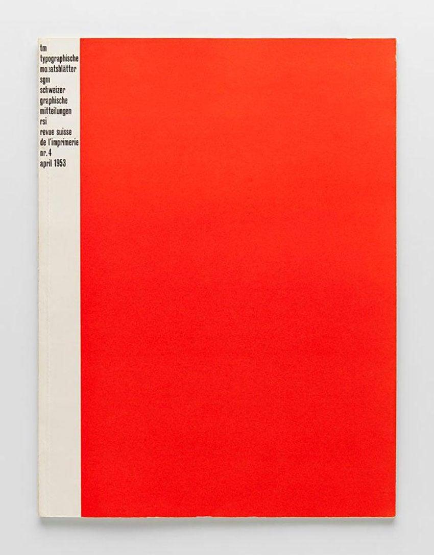 "Cover of Swiss typographic magazine ""Typographische Monatsblätter"" by Emil Ruder"