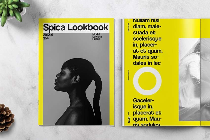 Art and Exhibition Catalog / Lookbook Template