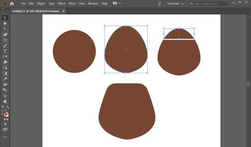 make a bears face from a 60x60 px circle