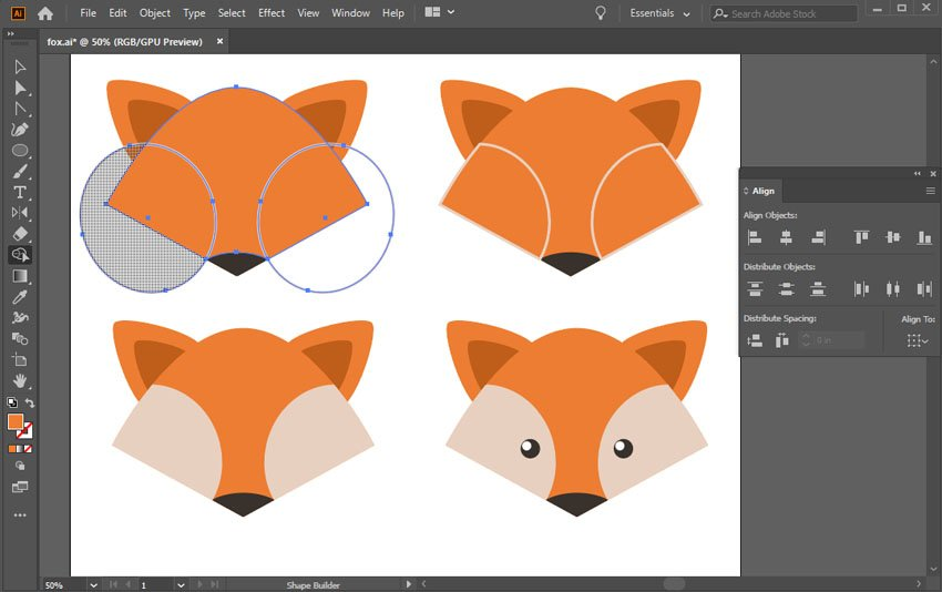 add the cheeks and the eyes with ellipses