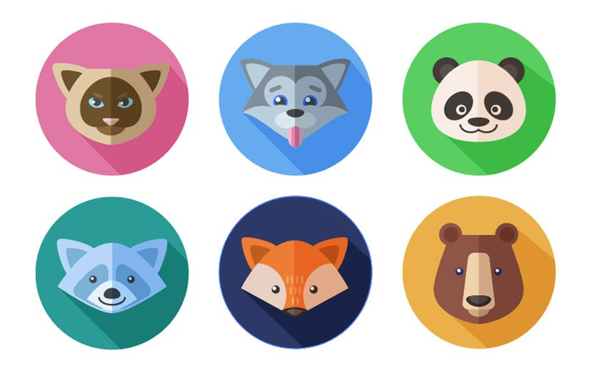 Flat Animal Icons Adobe Illustrator Tutorial