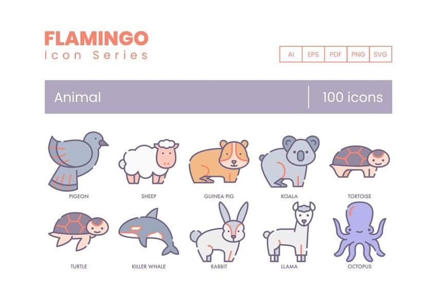 Vector Animal Illustration Icons