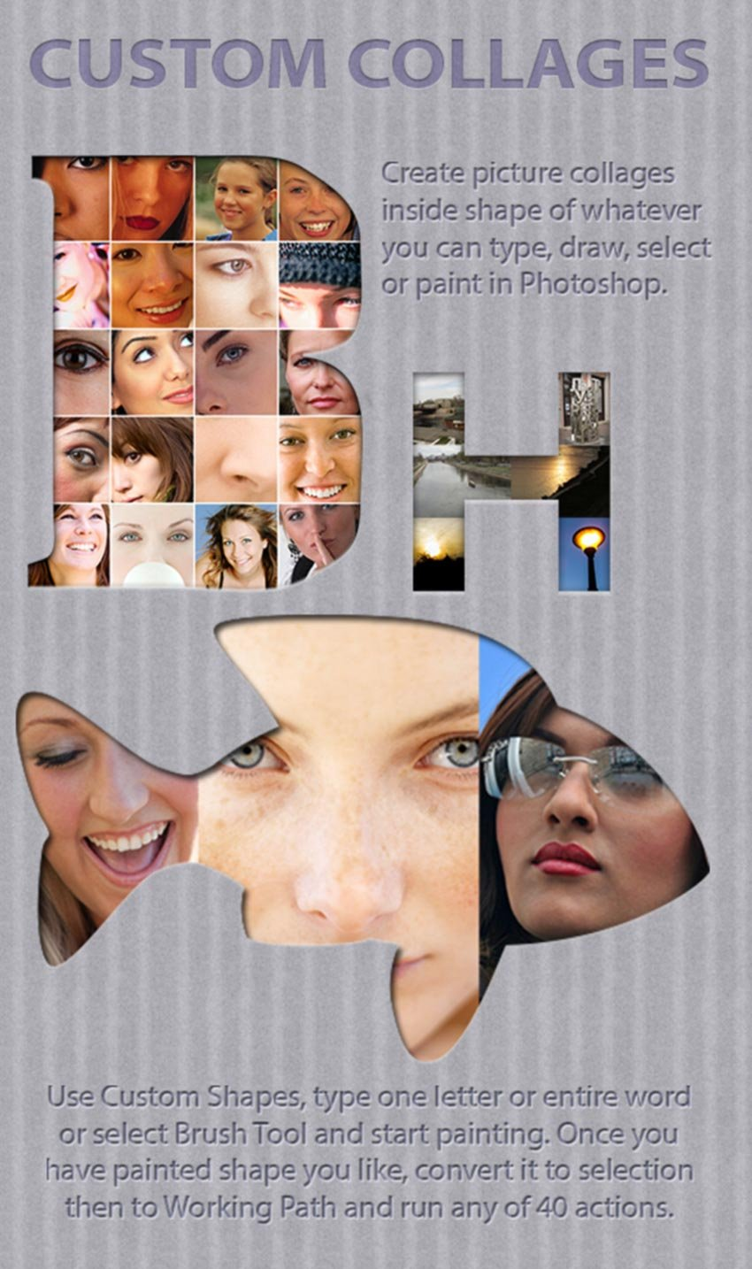 Custom Collages Photoshop Actions