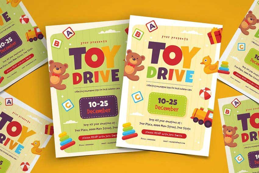 Toy Drive Flyer Template