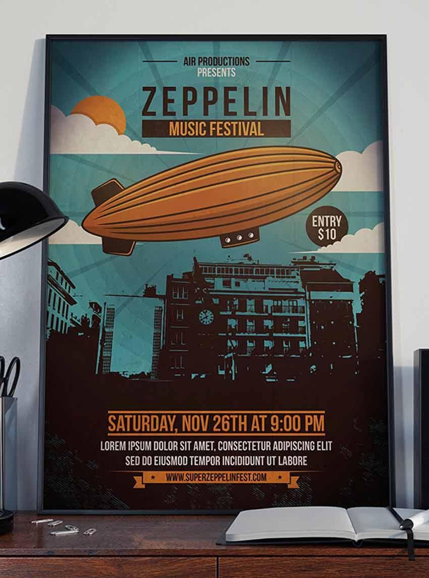 Sky Zeppelin Flyer Template