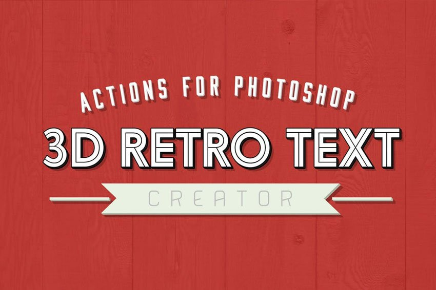 3D Retro Text Creator