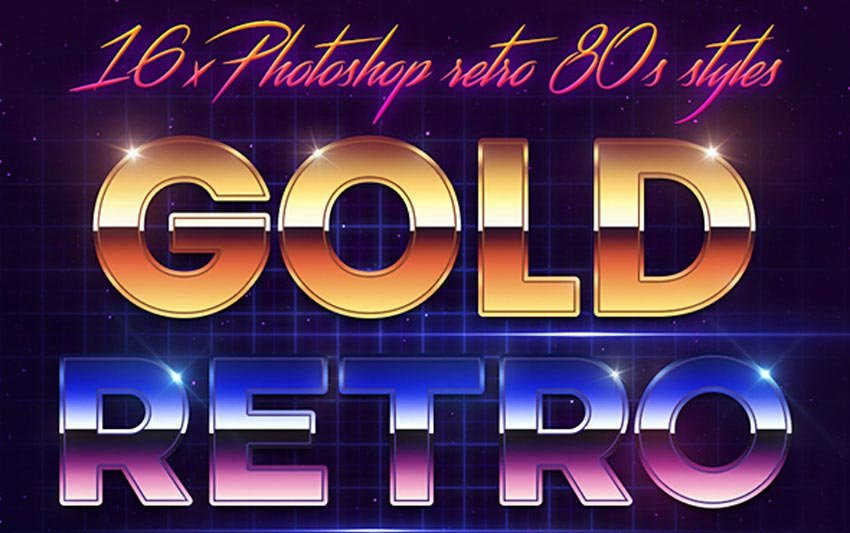 80s Style Text Effect