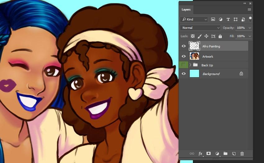Start of rendering afro textured hair
