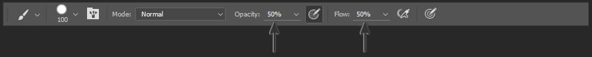 Demonstrating Opacity and Flow in the Options Panel