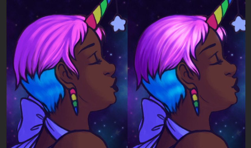 Example of using Color Dodge to create and develop highlights