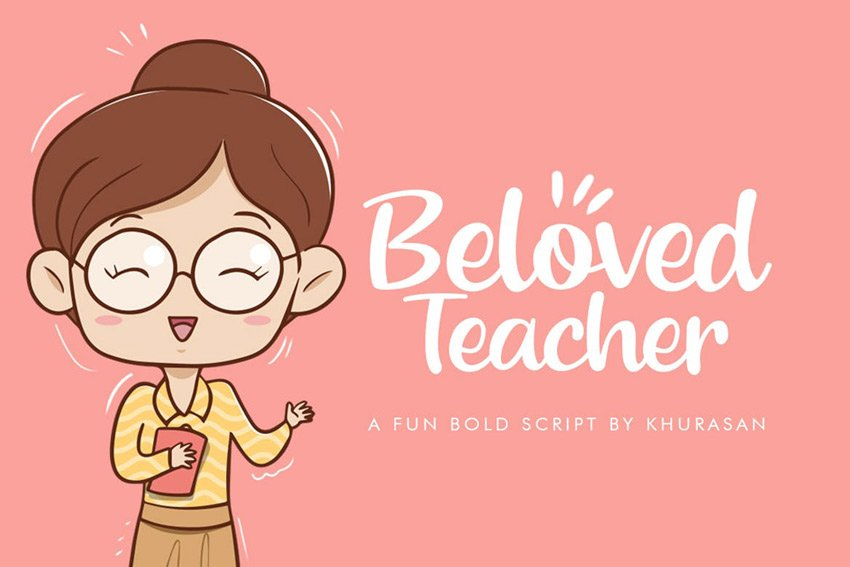 Beloved Teacher Script Font