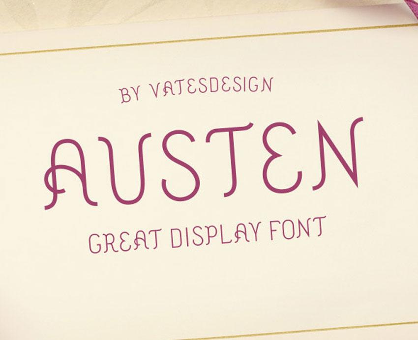 Austen Display Font