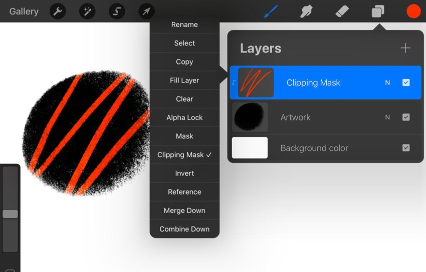 Procreate Clipping Mask